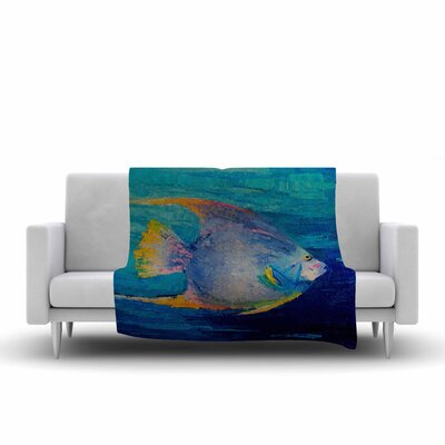 Carol Schiff Tropical Fish II Painting Fleece Throw Size: 60 W x 80 L