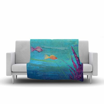Carol Schiff Key Largo Reef Painting Fleece Throw Size: 60 W x 80 L