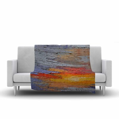 Carol Schiff Dreamy Sky Painting Fleece Throw Size: 60 W x 80 L