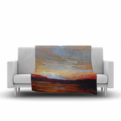 Carol Schiff on the Rise Painting Fleece Throw Size: 60 W x 80 L