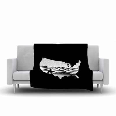 BarmalisiRTB Native American Digital Fleece Throw Size: 50 W x 60 L