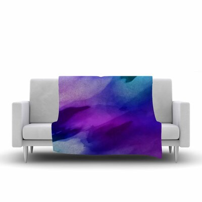 Chelsea Victoria Water Painting Fleece Throw Size: 50 W x 60 L