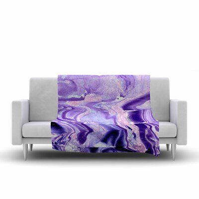 Danii Pollehn Marble Structure Painting Fleece Throw Size: 50 W x 60 L