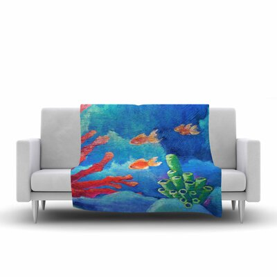 Carol Schiff Key Largo Painting Fleece Throw Size: 50 W x 60 L