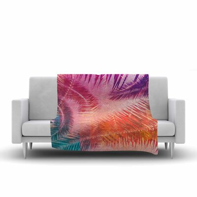 Cafelab Pop Tropical Abstract Fleece Throw Size: 50 W x 60 L