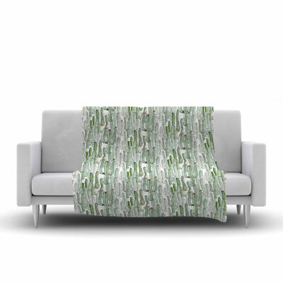 Danii Pollehn Cacti Illustration Fleece Throw Size: 50 W x 60 L