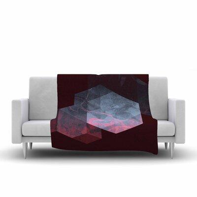 Cafelab Dramatic Geometry Geometric Fleece Throw Size: 60 W x 80 L