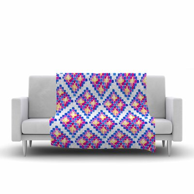 Danii Pollehn Marrakech Mosaic Watercolor Fleece Throw Size: 60 W x 80 L