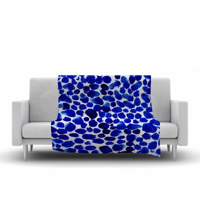 Danii Pollehn Dots Painting Fleece Throw Size: 60 W x 80 L