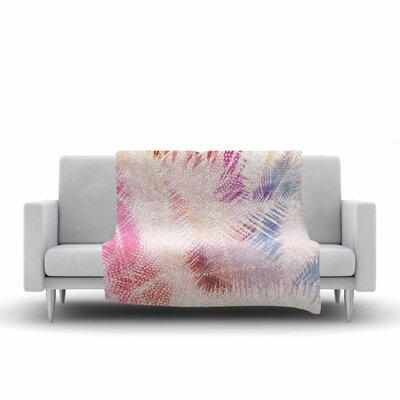 Cafelab Sweet Tropical Abstract Fleece Throw Size: 50 W x 60 L