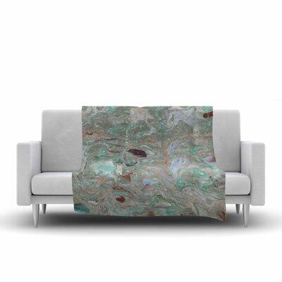 Danii Pollehn Marble Watercolor Fleece Throw Size: 50 W x 60 L