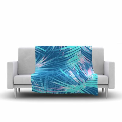 Danii Pollehn Neon Tropical Illustration Fleece Throw Size: 60 W x 80 L