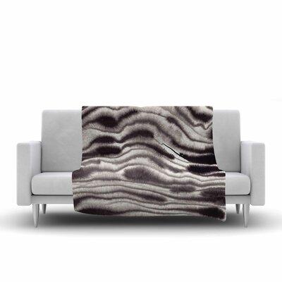 Danii Pollehn Blurr Lines Painting Fleece Throw Size: 60 W x 80 L