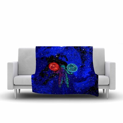 BarmalisiRTB King of Planets Digital Fleece Throw Size: 50 W x 60 L