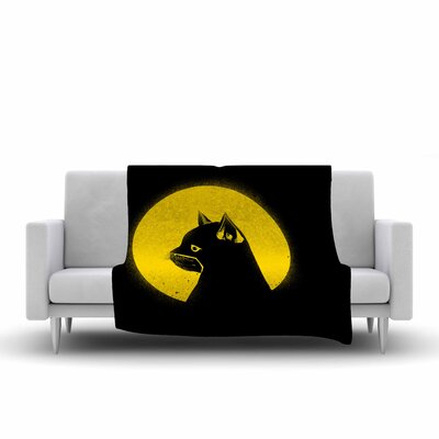 BarmalisiRTB Hero Cat Digital Fleece Throw Size: 60 W x 80 L
