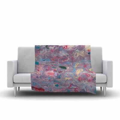 Danii Pollehn Marble Painting Fleece Throw Size: 60 W x 80 L