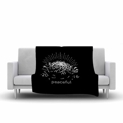 BarmalisiRTB Peaceful Tags Fleece Throw Size: 60 W x 80 L