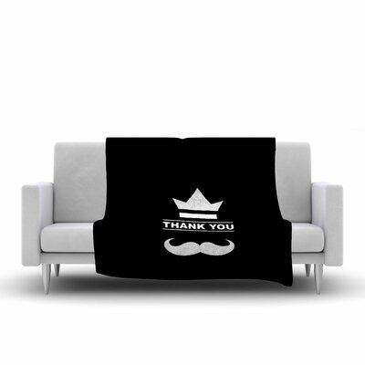 BarmalisiRTB Thank You Fleece Throw Size: 50 W x 60 L
