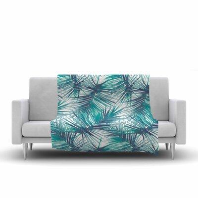 Danii Pollehn Palm Tree Branches Illustration Fleece Throw Size: 50 W x 60 L
