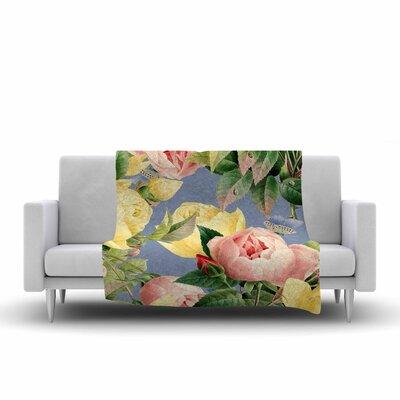 83 Oranges Island Dreams Illustration Fleece Throw Size: 60 W x 80 L