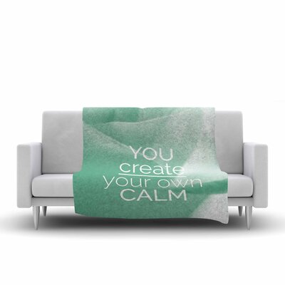 Tiny September You Create Your Own Calm Photography Fleece Throw Size: 60 W x 80 L
