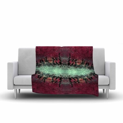 Pia Schneider Abstract Desert II Painting Fleece Throw Size: 60 W x 80 L