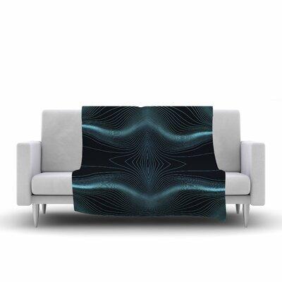 Pia Schneider Niagara Line Vibes Digital Fleece Throw Size: 50 W x 60 L