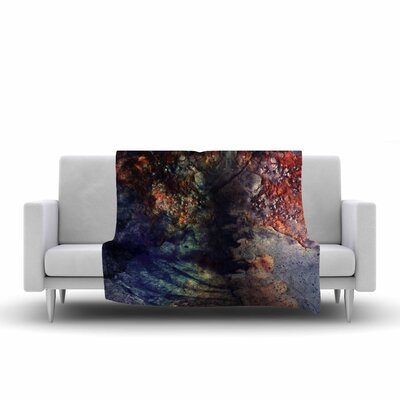 Pia Schneider Abstraction No12 Mixed Media Fleece Throw Size: 60 W x 80 L