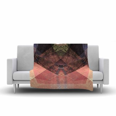 Pia Schneider Pattern Garden No3 Geometric Fleece Throw Size: 50 W x 60 L