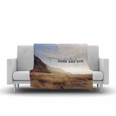 Sylvia Cook Sand and Sun Photography Fleece Throw Size: 60 W x 80 L