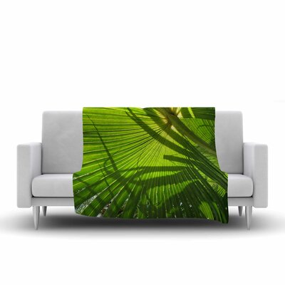 Rosie Palm Shadows Fleece Throw Size: 50 W x 60 L