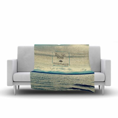 Robin Dickinson You Can Move Mountains Photography Fleece Throw Size: 60 W x 80 L