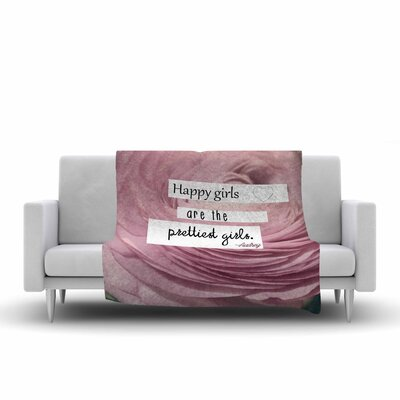 Robin Dickinson Happy Girls Fleece Throw Size: 60 W x 80 L