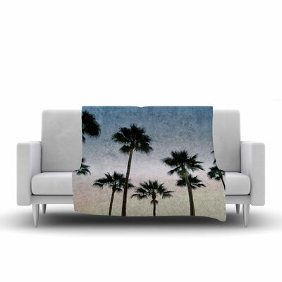 Richard Casillas Paradise Palms Fleece Throw Size: 60 W x 80 L