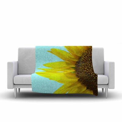 Richard Casillas Sunflower Fleece Throw Size: 50 W x 60 L