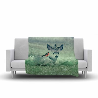 Suzanne Carter the Night Meadow Fleece Throw Size: 50 W x 60 L