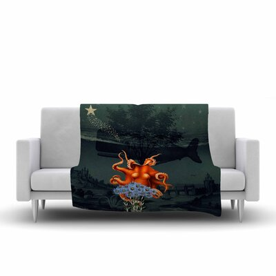 Suzanne Carter Under the Deep Sea Fleece Throw Size: 60 W x 80 L