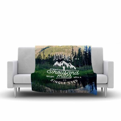 Robin Dickinson the Journey Photography Fleece Throw Size: 60 W x 80 L