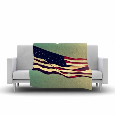 Robin Dickinson Freedom Digital Fleece Throw Size: 60 W x 80 L