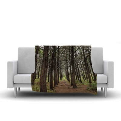 Sylvia Coomes Parallel Forest Photography Fleece Throw Size: 60 W x 80 L