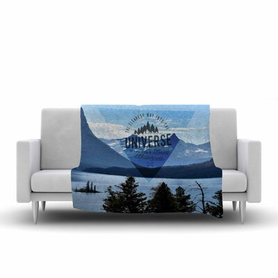 Robin Dickinson Through the Wilderness Photography Fleece Throw Size: 50 W x 60 L