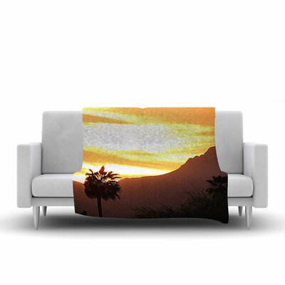 Sylvia Coomes Tucson Sunset Fleece Throw Size: 50 W x 60 L