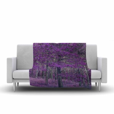 Sylvia Coomes Tree Photography Fleece Throw Size: 60 W x 80 L
