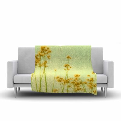 Sylvia Coomes Abstract Wild Flowers Fleece Throw Size: 50 W x 60 L