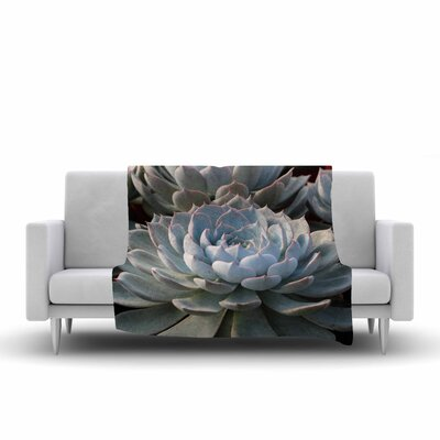 Suzanne Carter Succulent Love Fleece Throw Size: 50 W x 60 L