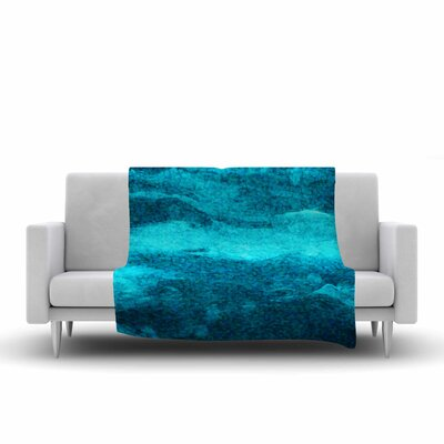Suzanne Carter Confetti Ocean Digital Fleece Throw Size: 50 W x 60 L