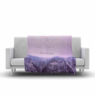 Suzanne Carter Wild and Free 2 Digital Fleece Throw Size: 50 W x 60 L