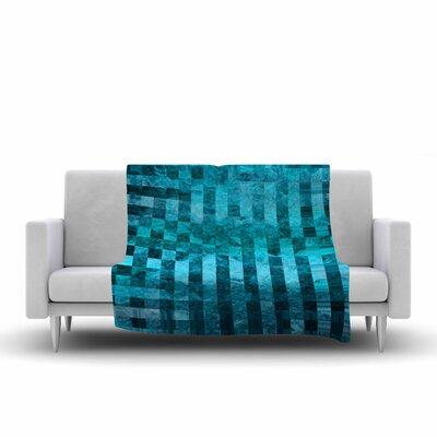 Suzanne Carter Mosaic Ocean Pattern Fleece Throw Size: 50 W x 60 L