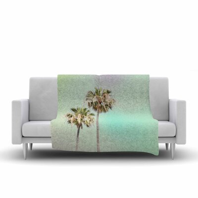 Sylvia Coomes Palm Trees Photography Fleece Throw Size: 50 W x 60 L