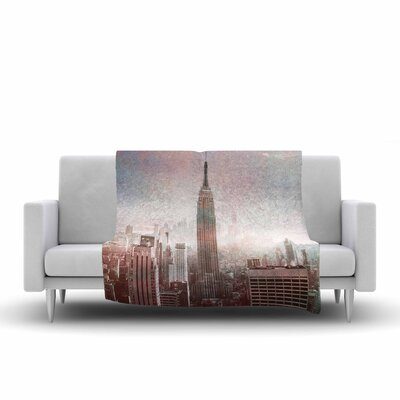 Suzanne Carter NYC Digital Fleece Throw Size: 60 W x 80 L